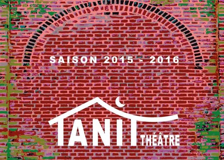 création de la plaquette du tanit théatre saison 2015-2016