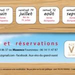 création flyer lisieux, normandie, claudine bucourt