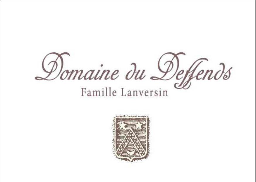 claudine bucourt Création d'un dépliant pour le domaine du deffends avec les noms des vins