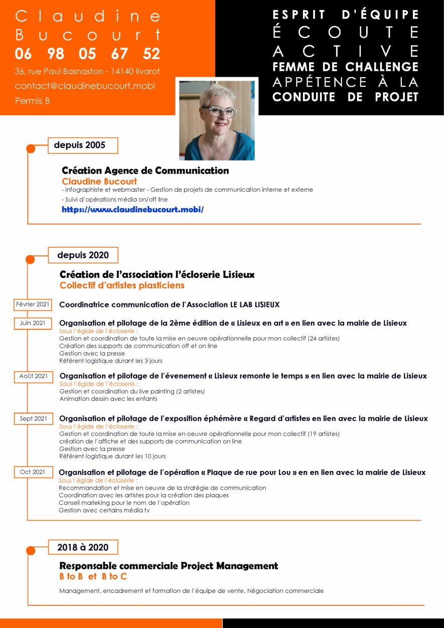 CLAUDINE BUCOURT CV